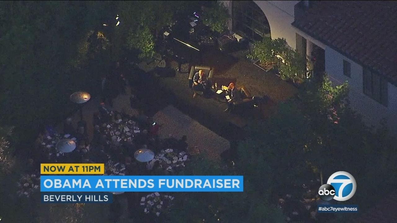 President Barack Obama was in Beverly Hills Thursday night for a fundraiser to help Democrats in the midterm elections.