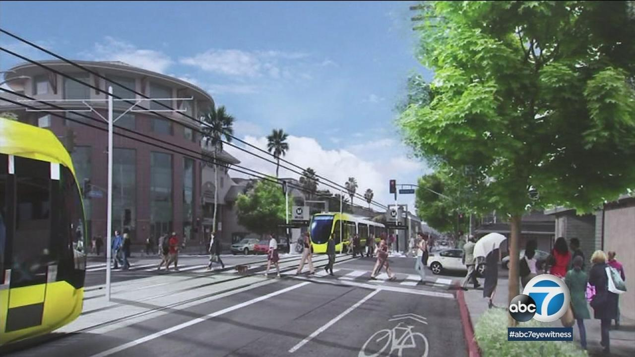 The San Fernando Valleys light rail line project will span more than nine miles and run along Van Nuys Boulevard.