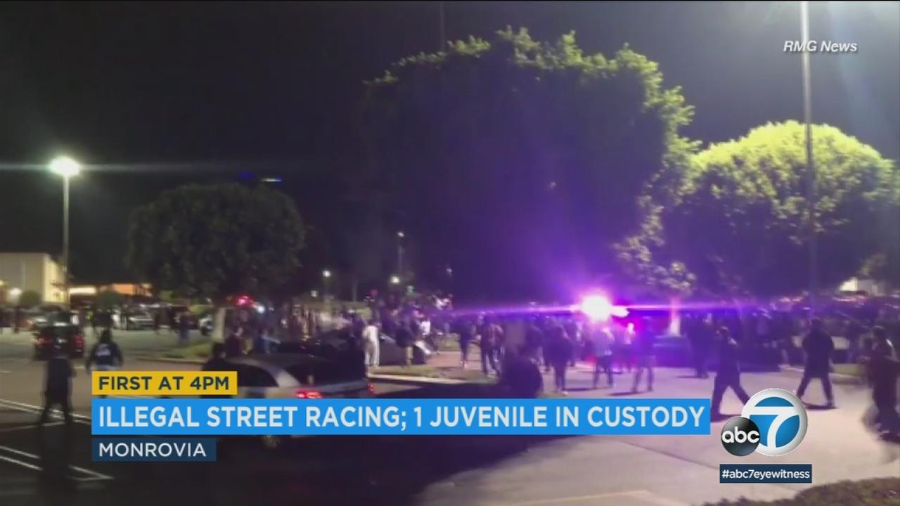 Police arrested a 16-year-old for reckless driving and misdemeanor evasion after the minor fled an incident involving illegal street racing in Monrovia.