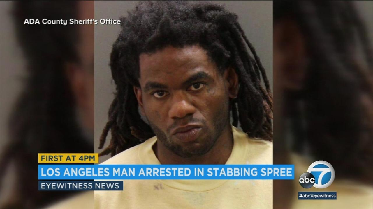 Timmy Kinner, 30, from Los Angeles is accused of a stabbing spree at a Boise apartment complex that left nine people, including several children, injured.