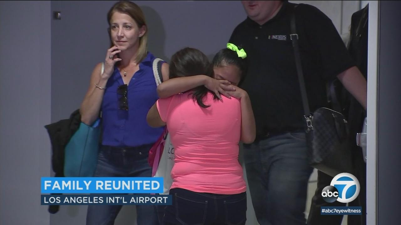 A mother and daughter separated at the border under the Trump administrations zero tolerance policy have been reunited in Los Angeles.