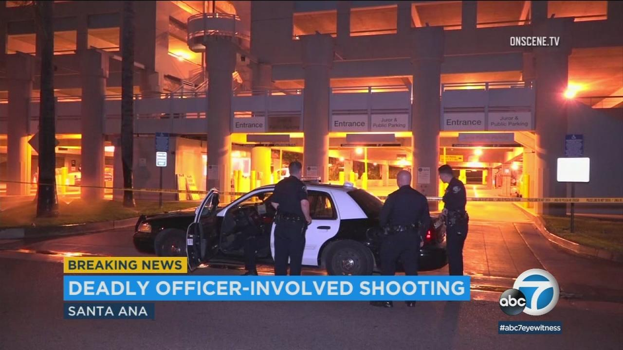 A man died following an officer-involved shooting in Santa Ana early Monday morning, police said.