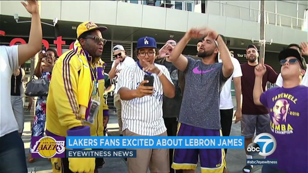 As Lakers fans continue to express excitement following the news that LeBron James intends to sign with their team, local L.A. businesses are also looking forward to his arrival.