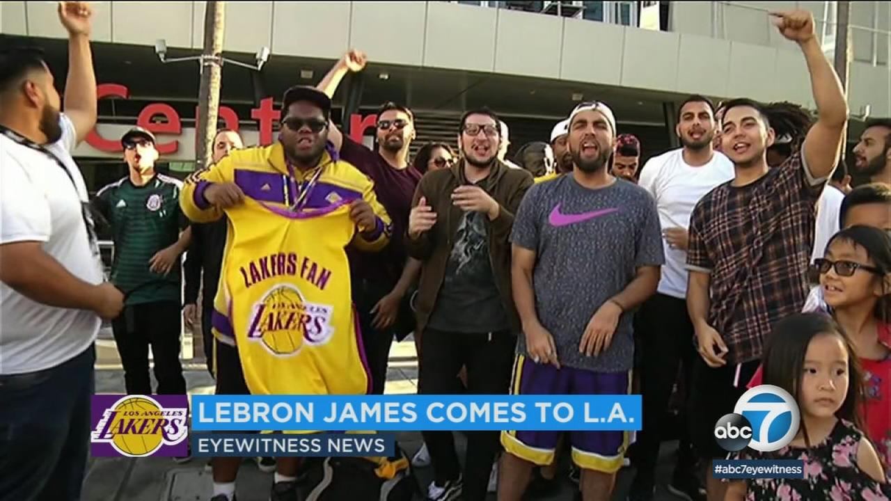 As Lakers fans continue to express excitement following the news that LeBron James intends to sign with their team, local businesses are also looking forward to his arrival.