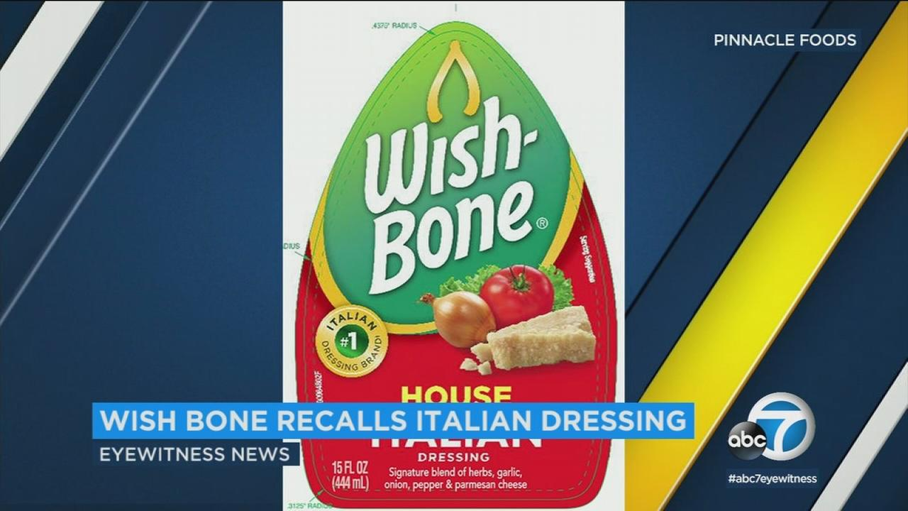 Wish-Bone is recalling thousands of bottles of Italian salad dressing due to possible allergen mislabeling.