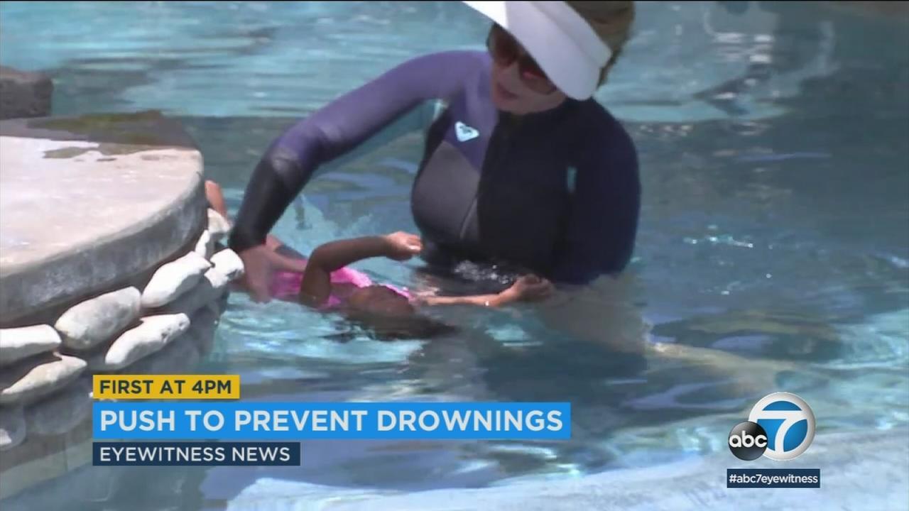 After a rise in child drownings, Riverside County officials are reminding parents to teach their kids pool safety.