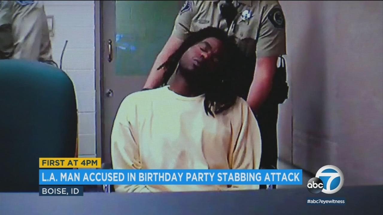 Timmy Kinner, 30, appears in court on charges of stabbing 9 people at an Idaho housing complex, killing a 3-year-old girl.