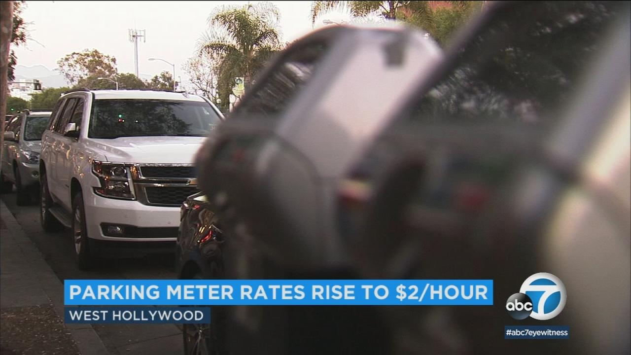 Parking in West Hollywood will now cost $2 per hour, which is an increase of 50 cents per hour.
