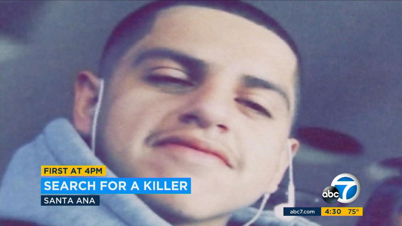 The Santa Ana Police Department is searching for a gunman who shot an killed an 18-year-old man during a fight that broke out at an illegal block party in Santa Ana on June 23.
