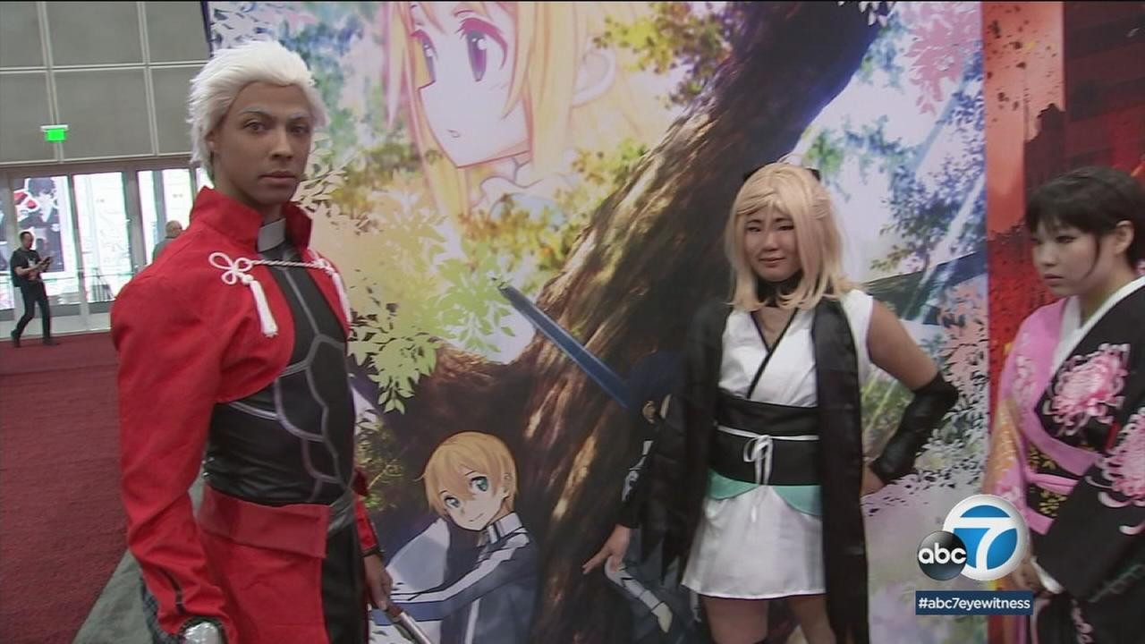 Thousands of fans, many of them wearing costumes, are flocking to the Los Angeles Convention Center for the Anime Expo.