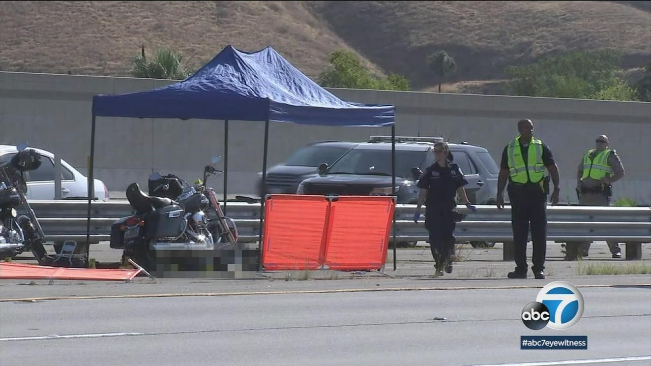 Two motorcyclists were shot, one fatally, on the 210 Freeway in San Bernardino on Friday morning.