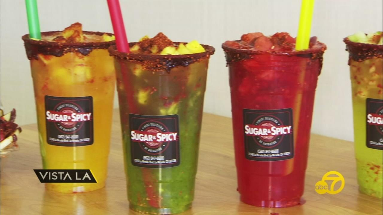 Aguas Frescas from Sugar and Spicy are shown.