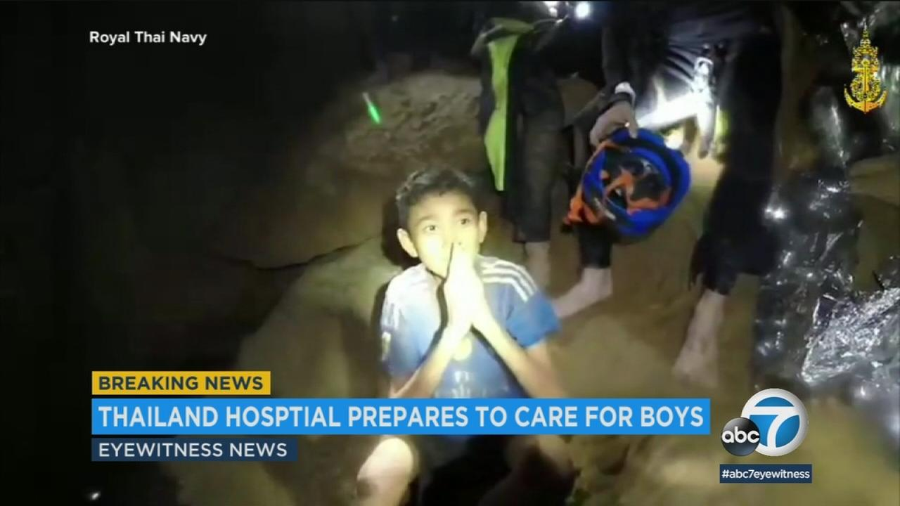 Rescuers in northern Thailand on Sunday extracted at least four members of a youth soccer team from the cave where they had been trapped for more than two weeks.