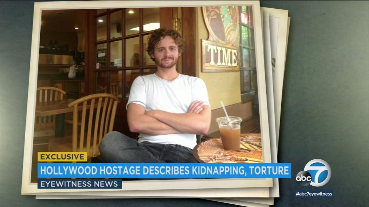 One of the two actors who was kidnapped and held for ransom tells of being beaten and held for 30 hours in a filthy bathroom.