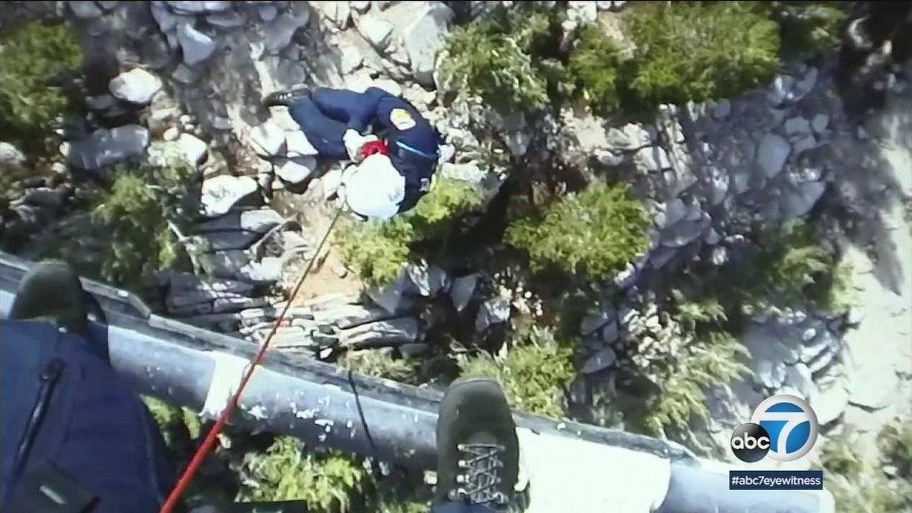 Hoist rescues are part of the job for Cal Fire firefighters, but what made Sundays different was its dizzying altitude.