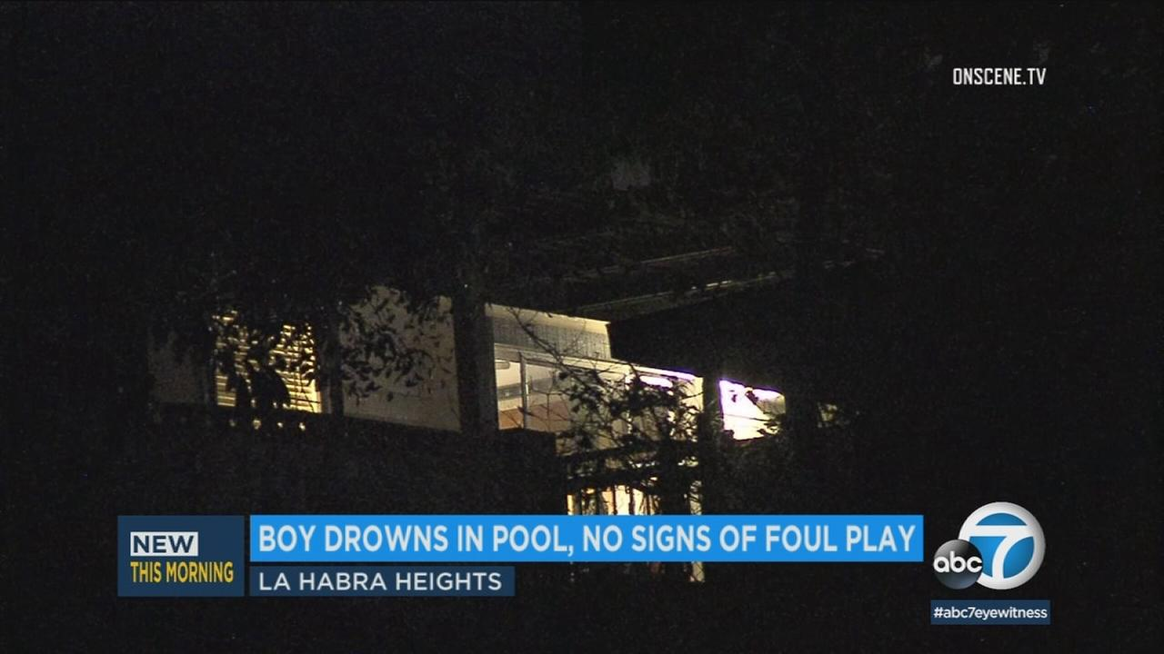 A child drowned in a pool at this La Habra home on Monday, July 10, 2018.