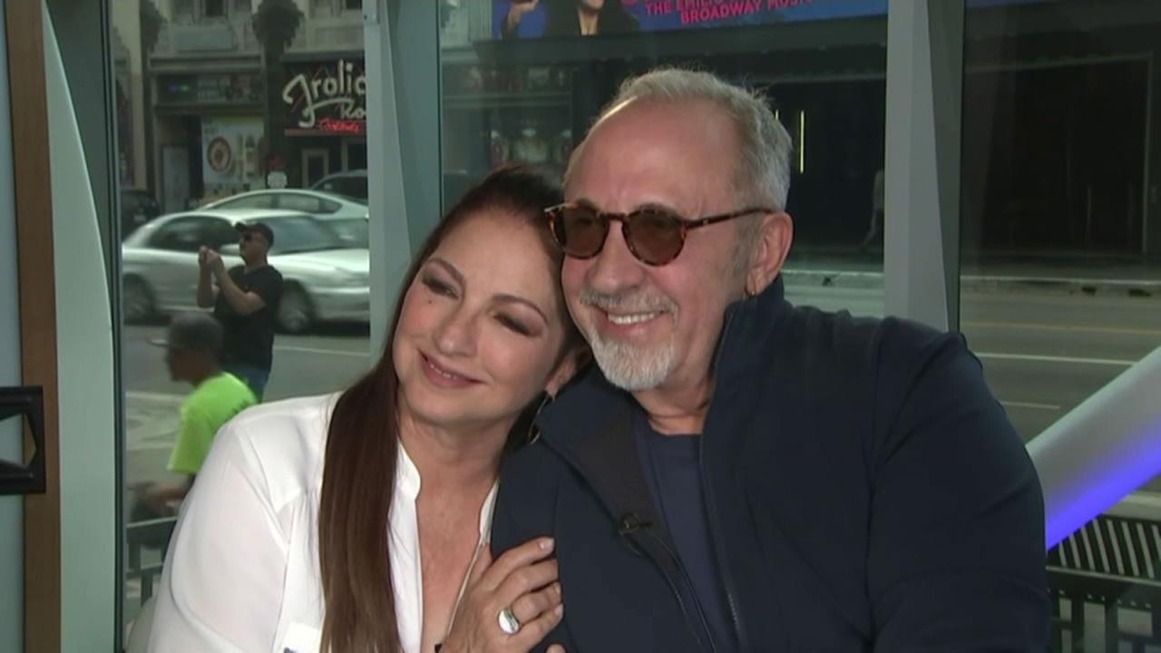 Gloria Estefan and her husband Emilio are shown during a photo shoot as they promoted their musical On Your Feet.