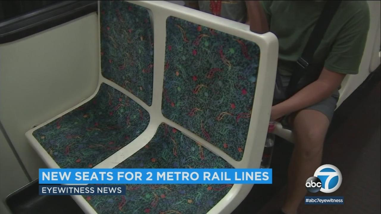 Metro is replacing thousands of cloth seats on two rail lines with vinyl, which is easier to clean and maintain.