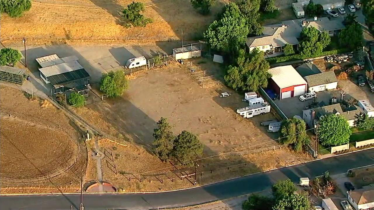 An area in Lake View Terrace where a horse accident killed a 12-year-old girl.