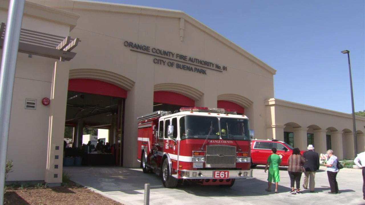 A new fire station opened in Buena Park to replace one that was destroyed in a fire last year.