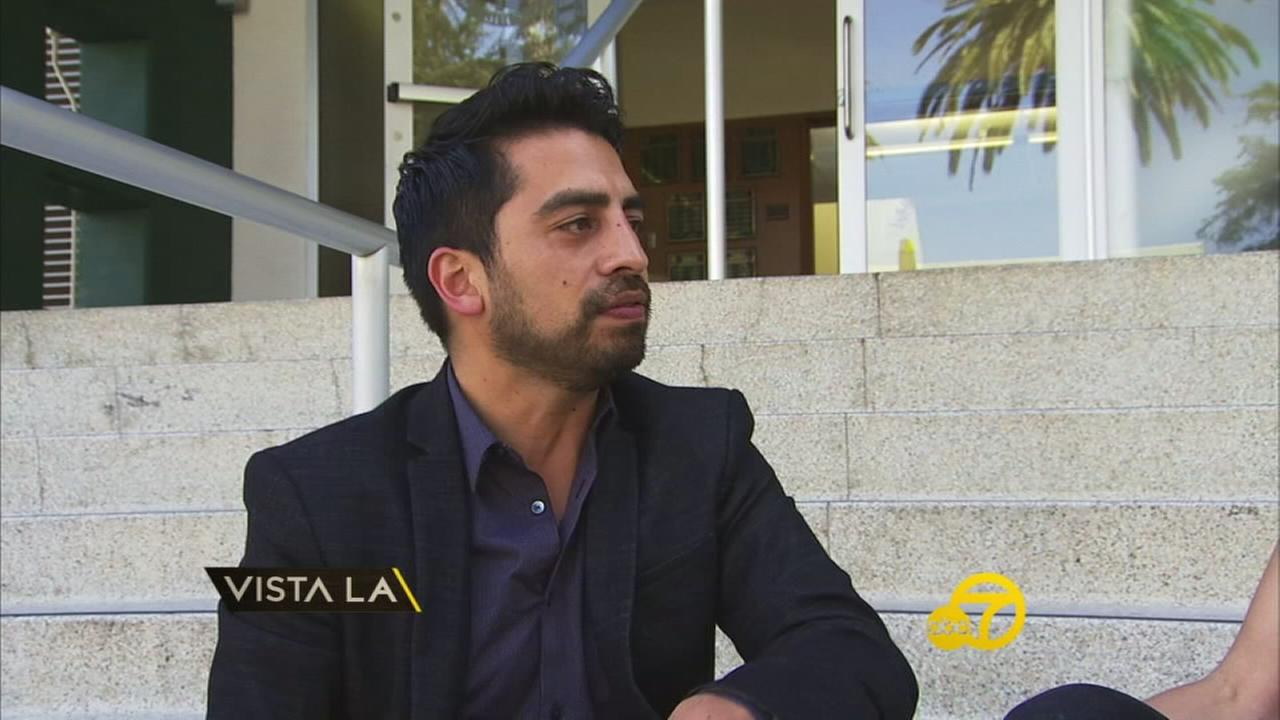 Carlos Hurtado is shown in a photo during a Vista L.A. interview.