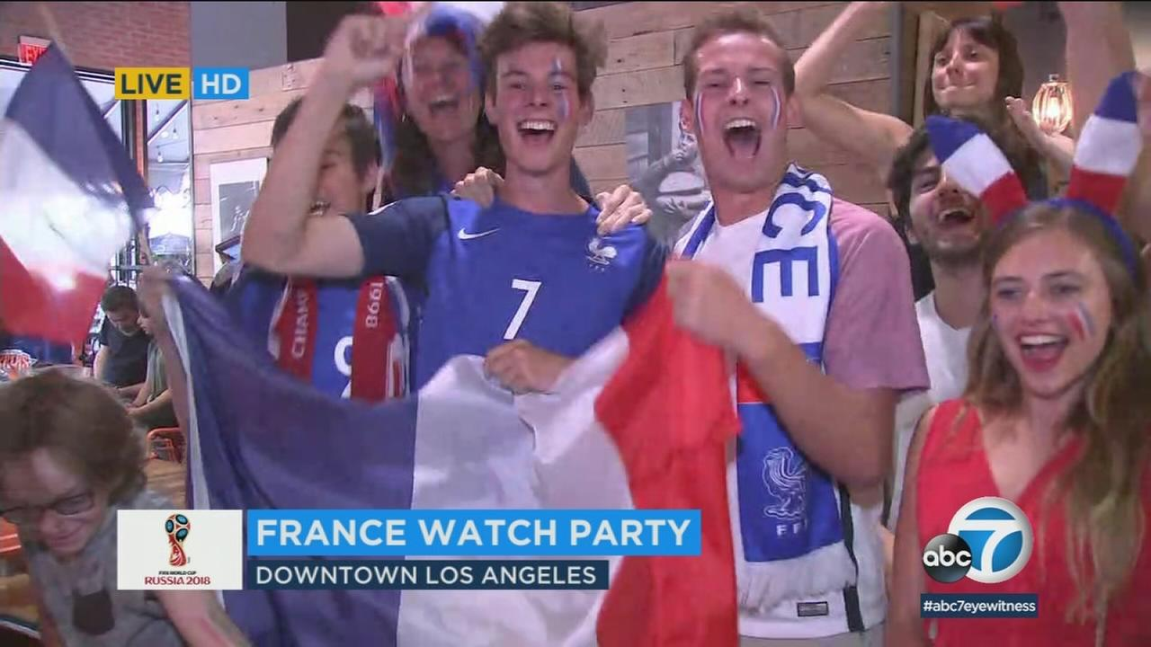 L.A. soccer fans got up early Sunday morning to watch the 2018 World Cup Final between France and Croatia.