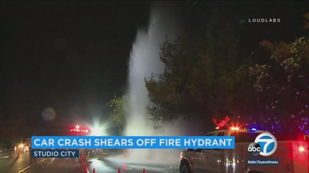 Authorities shut off overhanging power lines after they were concerned about the risk of electric shock before shutting off the water and stopping the late-night geyser.