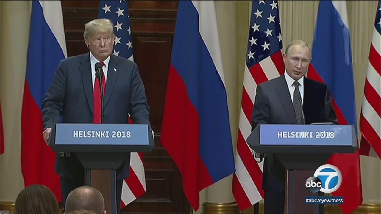 Trump and Putin spent a great deal of time discussing allegations of Russian election meddling as they met for several hours Monday, the U.S. president said.