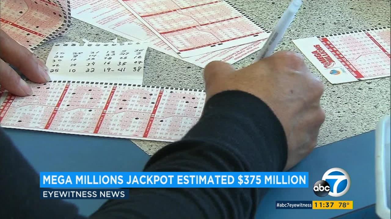 The Mega Millions lottery jackpot is at an estimated $375 million, the 10th highest amount in the games history.