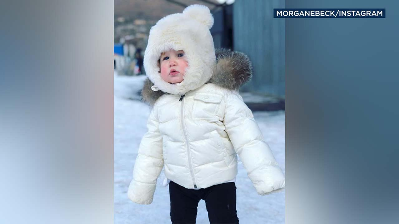 The wife of former Olympic skier Bode Miller posted this image of her daughter on Instagram.