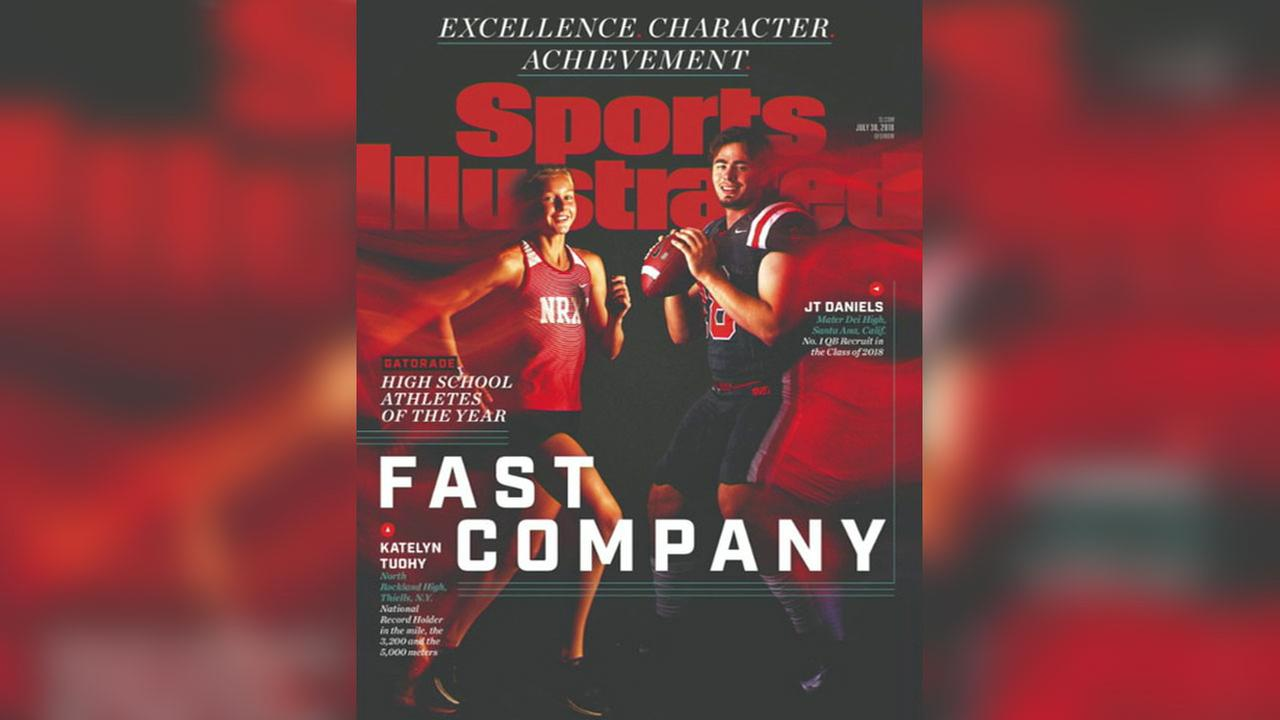 A Sports Illustrated cover featuring Gatorade National Football Player of the Year JT Daniels, of Mater Dei High School in Santa Ana.