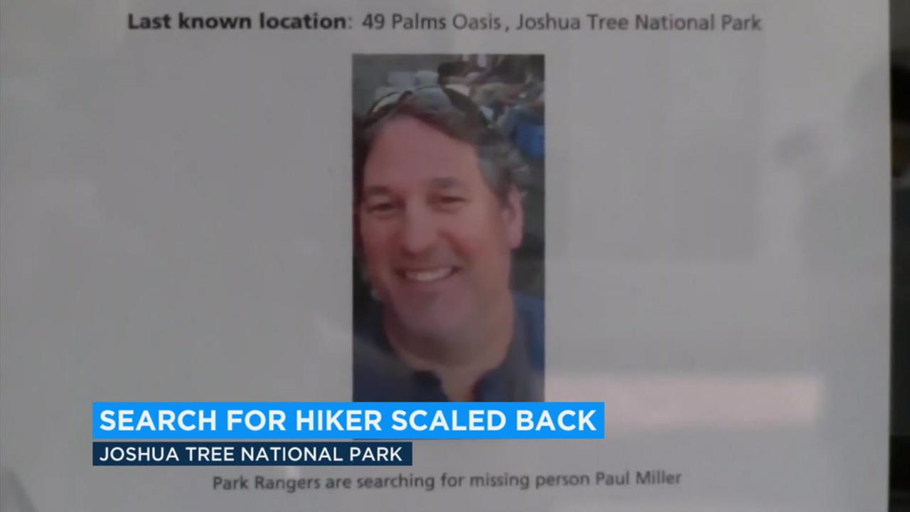 There has been no sign of 51-year-old Paul Miller after five days of scouring the desert area, officials said.