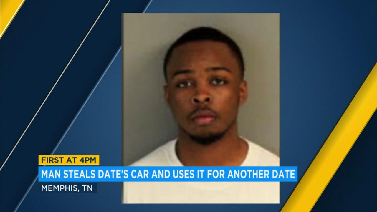Kelton Griffin allegedly stole a womans car while out on a date with her and then drove her godsister to a drive-in.