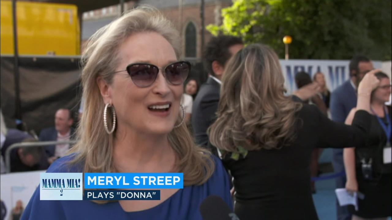 Meryl Streep returns as Donna in the sequel Mamma Mia! Here We Go Again