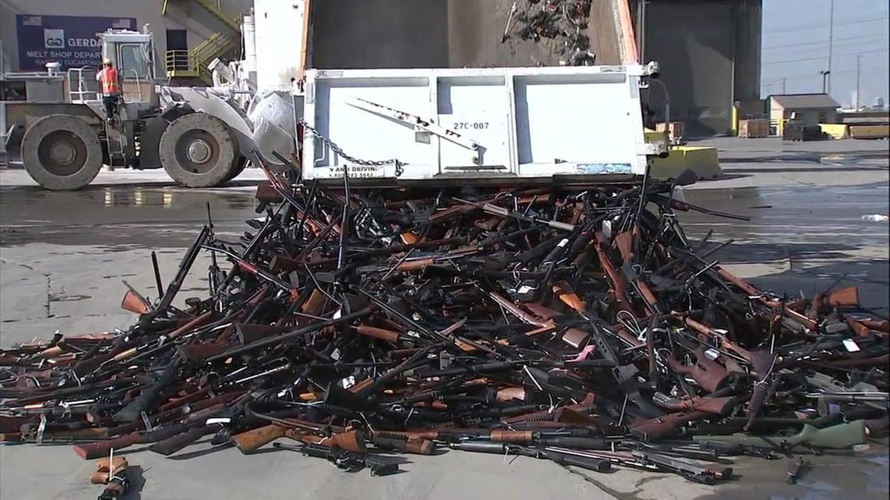 Officials placed handguns, rifles and automatic weapons into an oven during the 25th installment of the destruction ceremony at Gerdau Steel Mill.