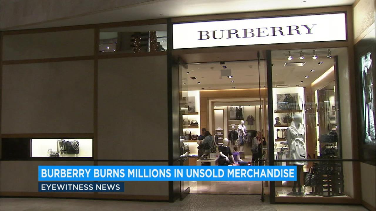 The items, which Burberry decided to destroy rather than sell at a discount, included clothes, accessories and perfume.