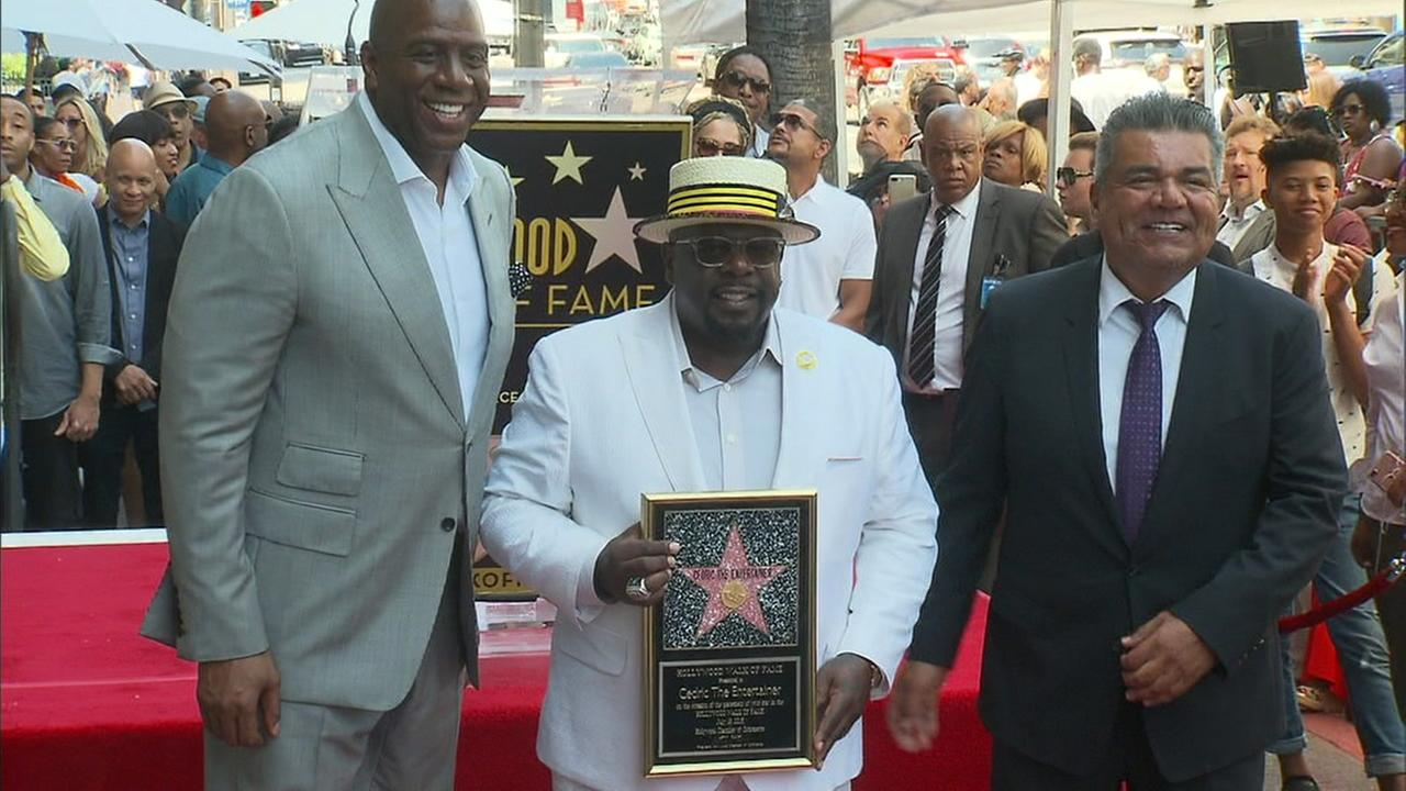 Cedric the Entertainer was joined by friends Magic Johnson and George Lopez as he received his star on the Hollywood Walk of Fame.