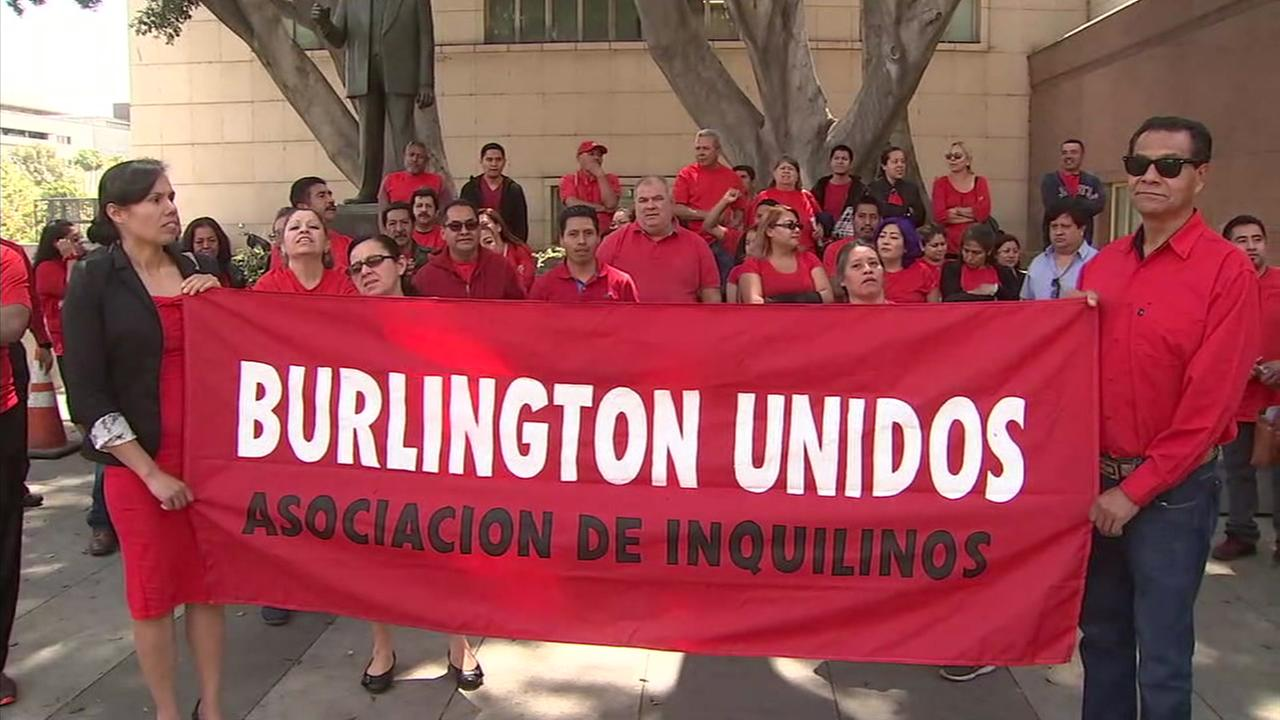 The Burlington Apartments tenants have joined a strike organized by the Eviction Defense Network, claiming in court that their landlord has failed to provide a habitable living environment.