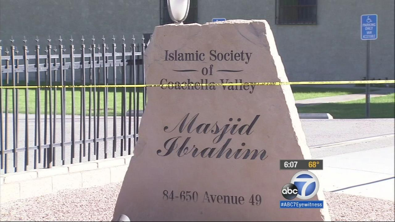 Coachella Police are investigating a possible hate crime after a mosque was struck by gunfire early Tuesday.