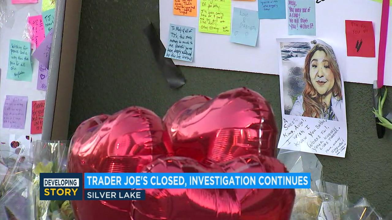 Co-workers and customers continued to grieve for a Trader Joes store manager who was fatally shot during a harrowing standoff involving a suspect and police in Silver Lake.
