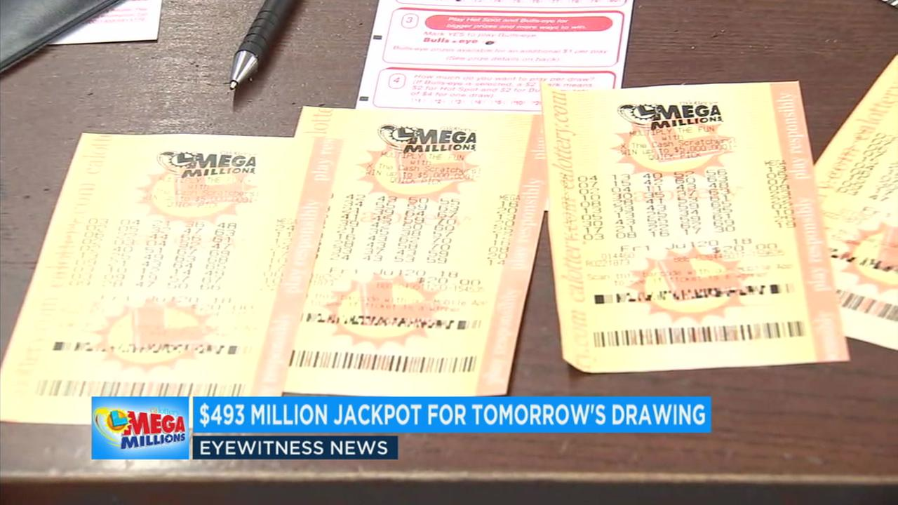 A record Mega Millions drawing will take place Tuesday as the jackpot has grown to at least $493,000,000.
