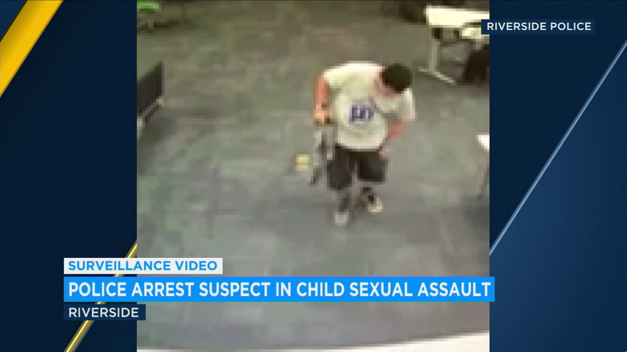 A convicted sex offender was arrested Sunday for the alleged sexual assault of a 6-year-old boy days earlier at a library in Riverside, police said.