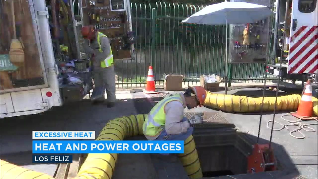 Local utility crews are out in force amid Tuesdays record-setting Southern California heat wave.