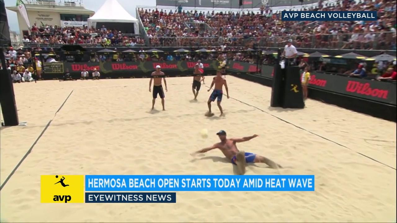 Some of the best volleyball players are facing off in the 2018 AVP Hermosa Beach Open, which starts Thursday amid extreme heat across Southern California.