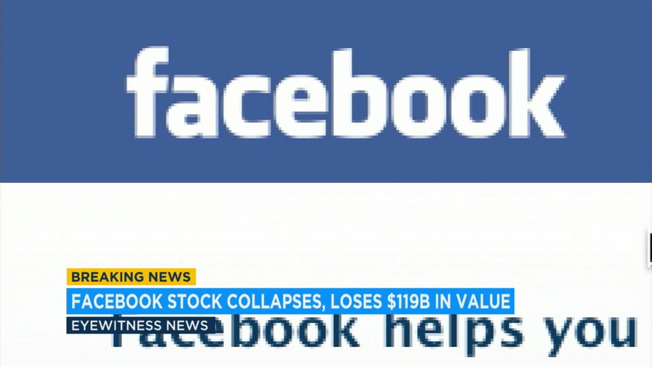 Facebooks stock collapse has wiped out $119 billion in market value, marking one of the worst single-day losses in history.