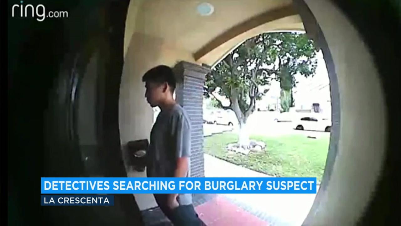 Police in La Crescenta are trying to track down burglary suspect Esnaider Alvarado Martinez, 19.
