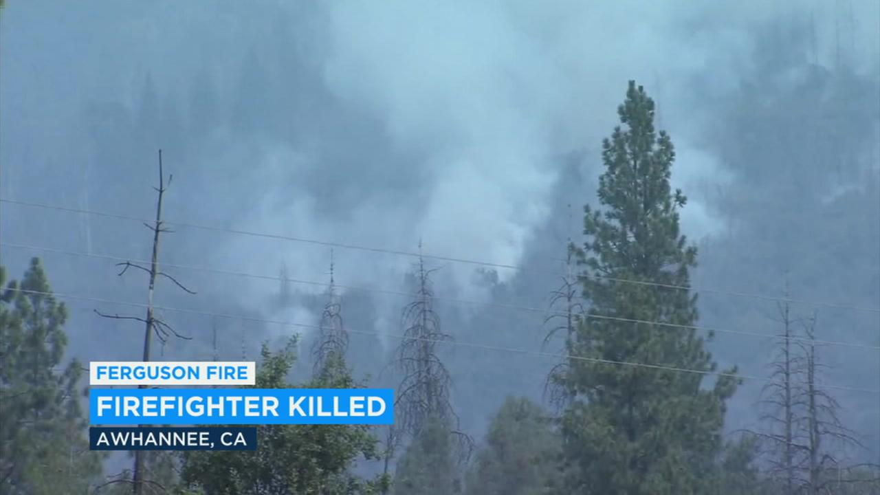 A firefighter was struck and killed by a tree while battling the Ferguson Fire near Yosemite Sunday morning.