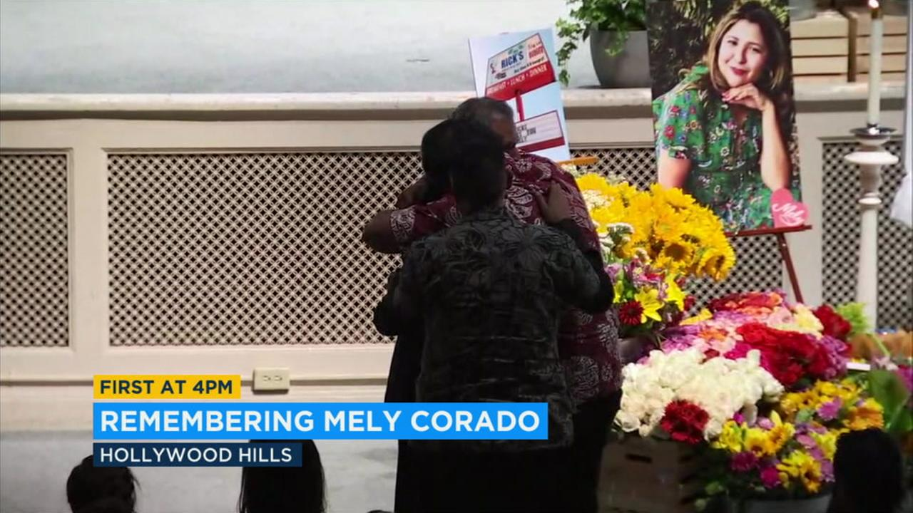 A funeral service was held for slain Trader Joes assistant manager Melyda Mely Corado, on Sunday in the Hollywood Hills.