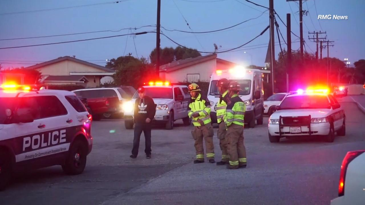 A suspect was barricaded in an Oxnard home after a confrontation that resulted in an officer-involved shooting, police said.