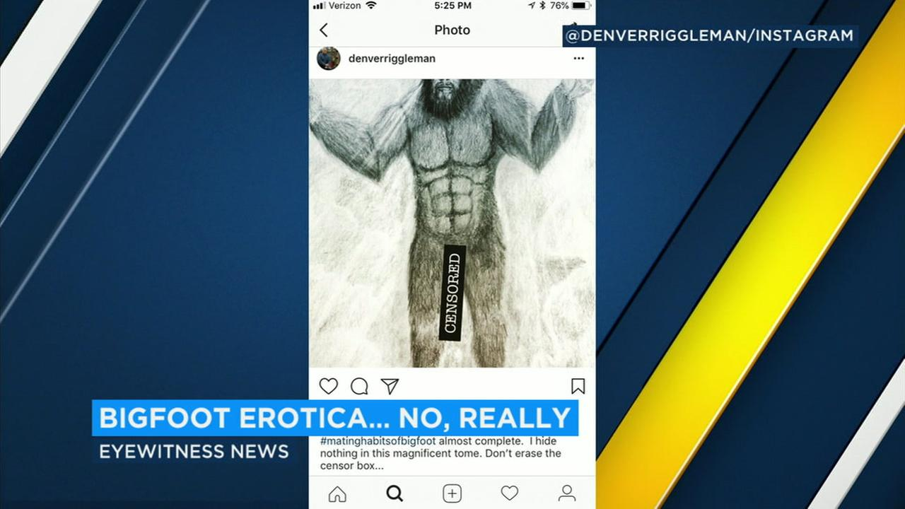 A Virginia congressional candidate says the nude images of Bigfoot on his social media accounts are meant to be jokes.